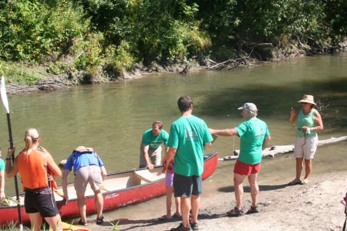 Canoe launch at Wescustogo Park (Route 231)