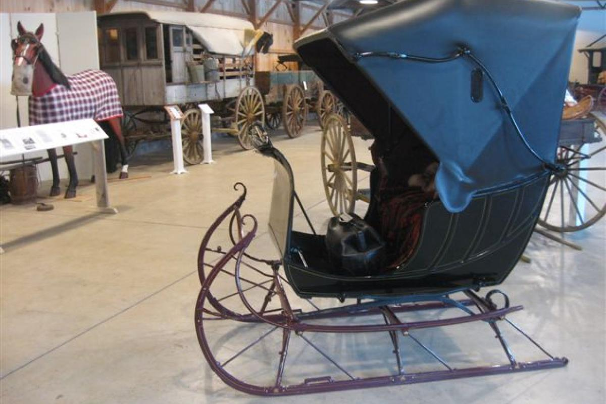Doctor's Sleigh seen in the Carriage Museum at Skyline Farm