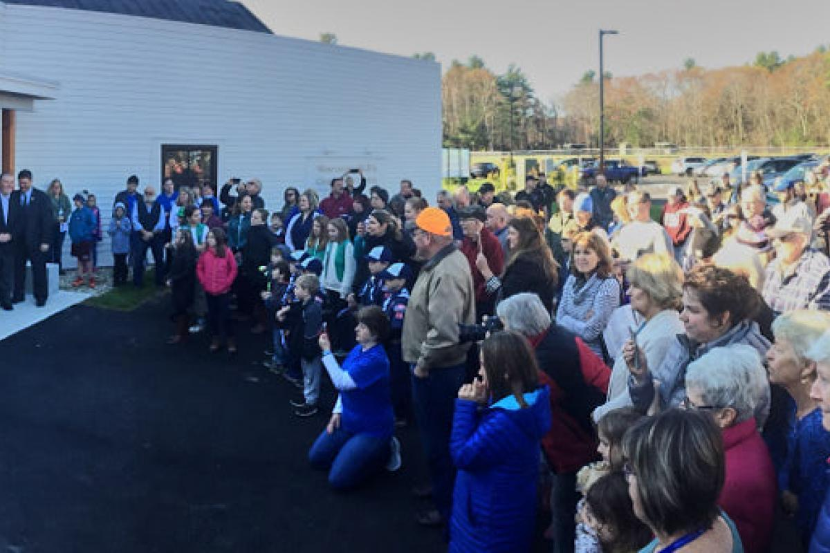 Opening Day at the new Wescustogo Hall and North Yarmouth Community Center