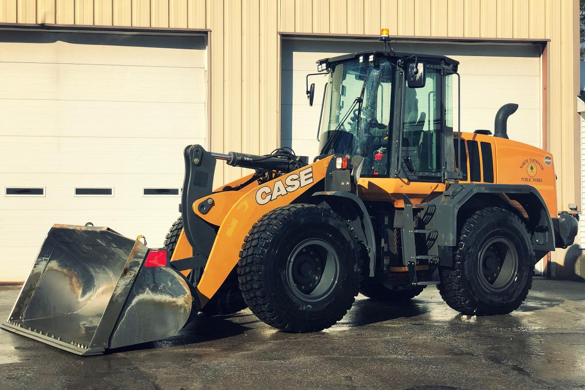 2018 Case 621G Loader with a 3 yard bucket and a 12' snow pusher