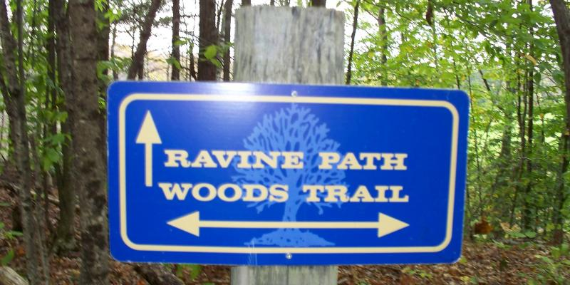 Trail Sign at Old Town House Park